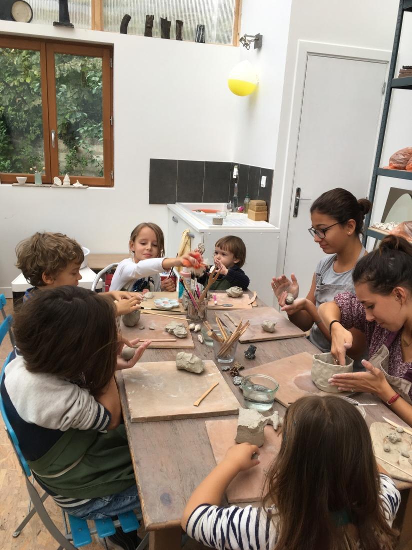 stage enfants poterie chalet ceramique